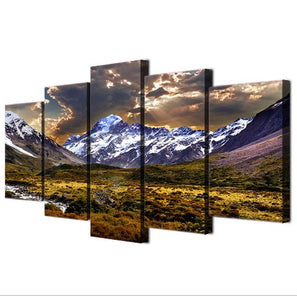 Sky Ice Mountain-5 Panel-Canvas Bros
