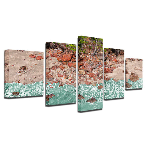 Aussie Red Rocks-5 Panel-Canvas Bros