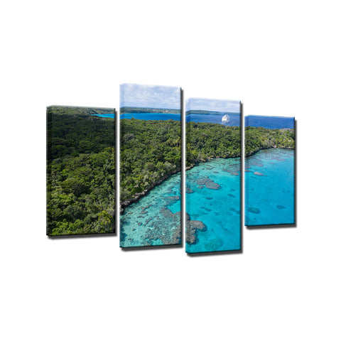 Island Holiday-4 Panel-Canvas Bros