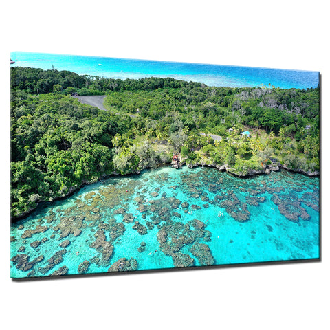 Image of Island Reef Getaway-1 Panel-Canvas Bros