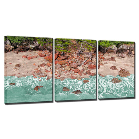 Image of Aussie Red Rocks-3 Panel-Canvas Bros