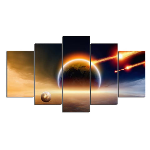 Image of Meteor Strike-5 Panel-Canvas Bros