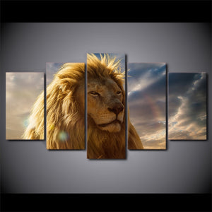 Lion Mane-5 Panel-Canvas Bros