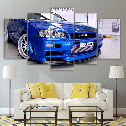 Image of Nissan GT-R-5 Panel-Canvas Bros