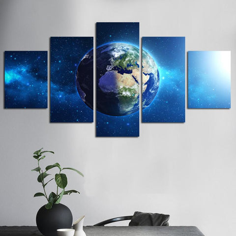 Earth from Outer Space-5 Panel-Canvas Bros