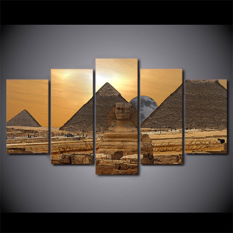 Image of Egyptian Pyramid-5 Panel-Canvas Bros