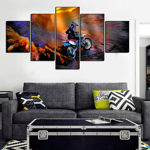 Image of Dirt Bike Home Decor-5 Panel-Canvas Bros