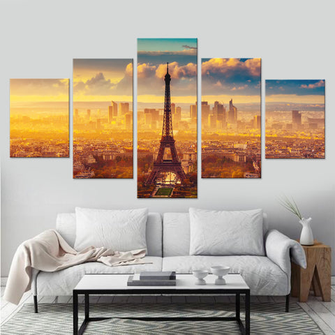 Image of Stunning Abstract Paris City-5 Panel-Canvas Bros
