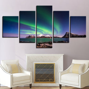 Northern Lights-5 Panel-Canvas Bros