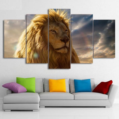 Image of Lion Mane-5 Panel-Canvas Bros