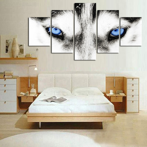Wolf Eyes-5 Panel-Canvas Bros