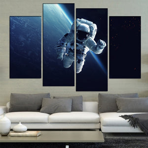 Astronaut-4 Panel-Canvas Bros