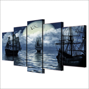 Sailing Sea-5 Panel-Canvas Bros