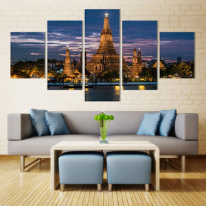 Thai Architecture-5 Panel-Canvas Bros
