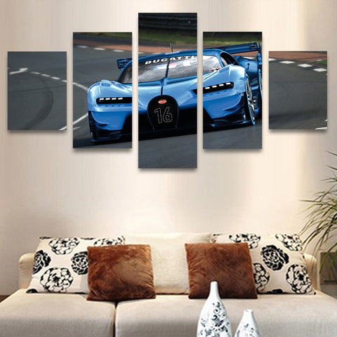 Image of Bugatti-5 Panel-Canvas Bros