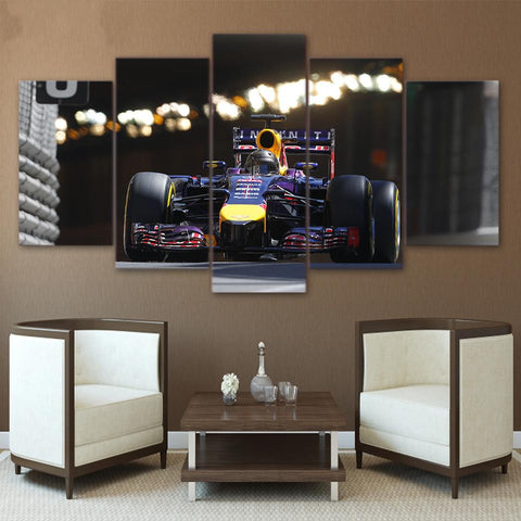 Image of Formula 1 Racing-5 Panel-Canvas Bros