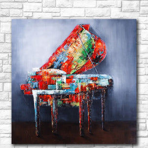 Abstract Painted Piano
