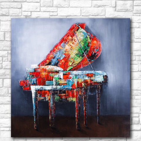 Abstract Painted Piano-1 Panel-Canvas Bros