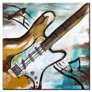 Abstract Graffiti Guitar