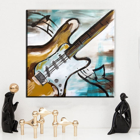 Image of Abstract Graffiti Guitar-1 Panel-Canvas Bros
