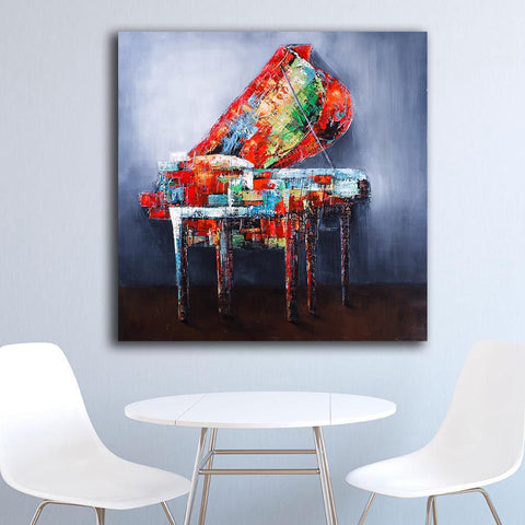 Image of Abstract Painted Piano-1 Panel-Canvas Bros