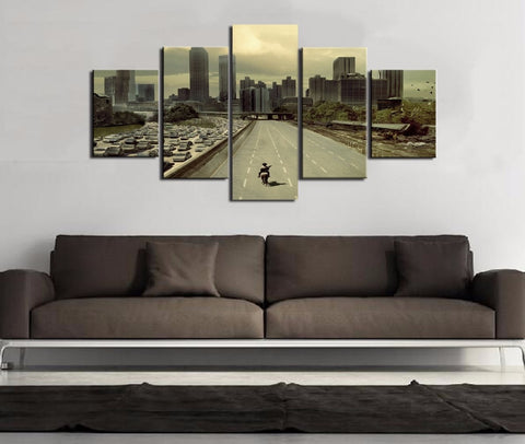Image of Ghost Town-5 Panel-Canvas Bros
