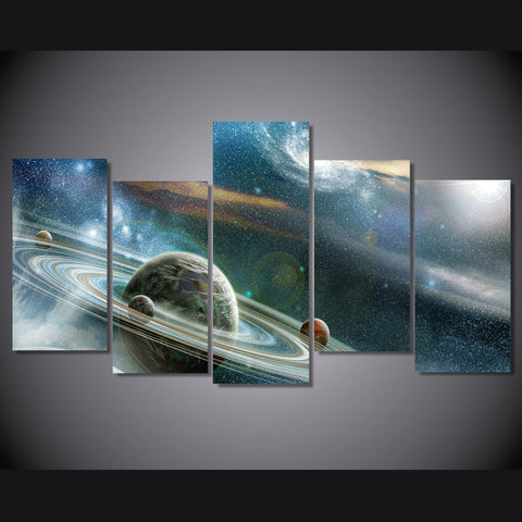 Image of Abstract Galaxy-5 Panel-Canvas Bros