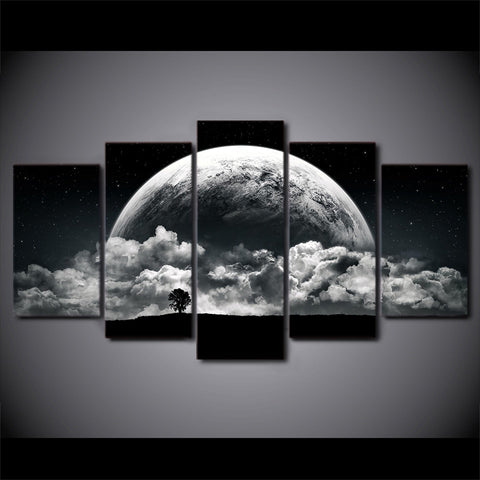 Image of Stunning World-5 Panel-Canvas Bros