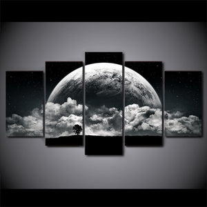 Stunning World-5 Panel-Canvas Bros