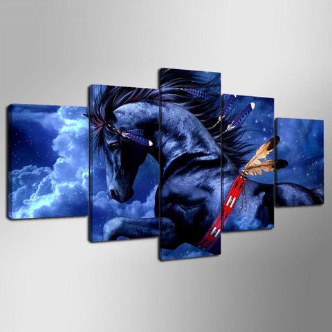 Image of American Horse-5 Panel-Canvas Bros