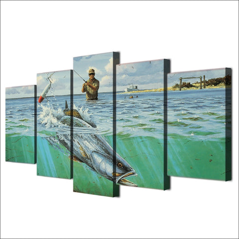 Image of Hook, Line & Sinker-5 Panel-Canvas Bros