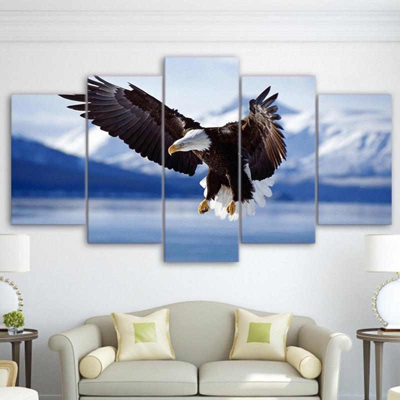 Soaring Eagle-5 Panel-Canvas Bros