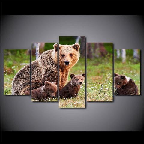 Image of Family Time-5 Panel-Canvas Bros