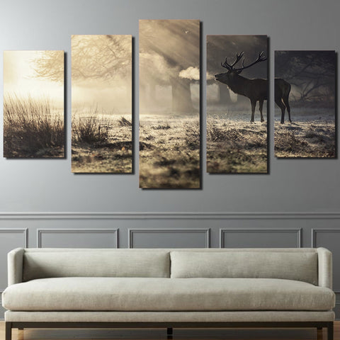 Image of Oh Deer-5 Panel-Canvas Bros
