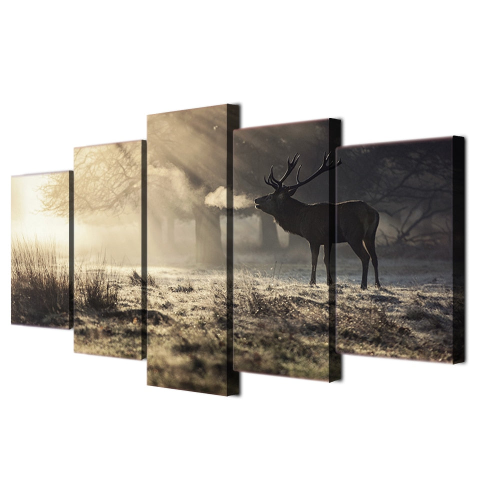 Oh Deer-5 Panel-Canvas Bros