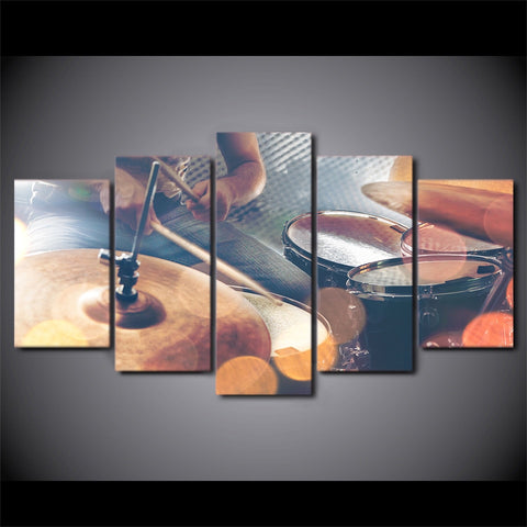 Image of Vintage Drums-5 Panel-Canvas Bros