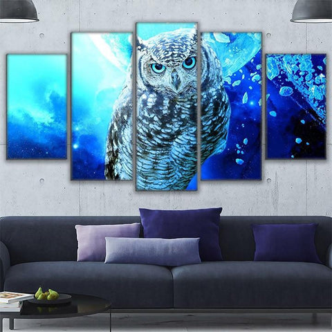 Image of Abstract Owl-5 Panel-Canvas Bros