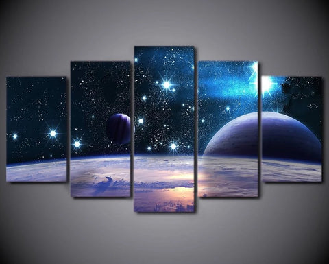 Stunning Starry Universe-5 Panel-Canvas Bros