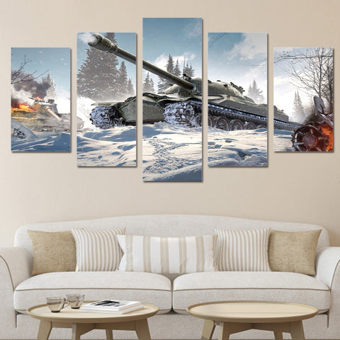 Image of Snow Tank-5 Panel-Canvas Bros