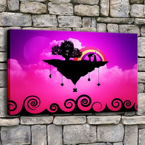 Floating Love Island-1 Panel-Canvas Bros