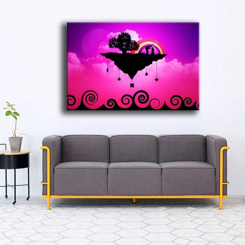 Image of Floating Love Island-1 Panel-Canvas Bros