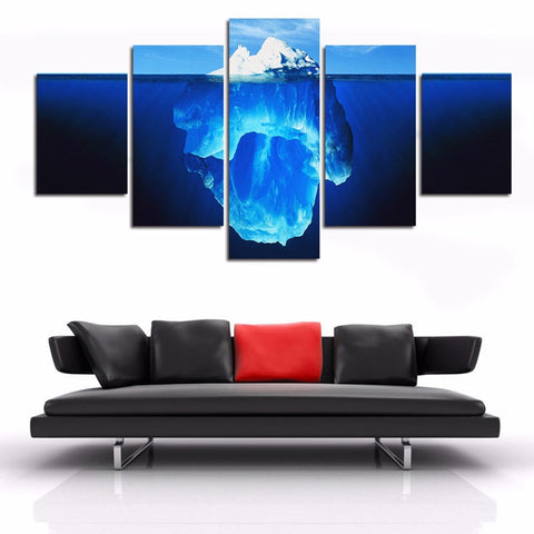 Image of Underwater Iceberg-5 Panel-Canvas Bros