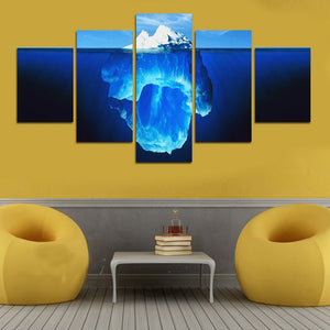 Underwater Iceberg-5 Panel-Canvas Bros