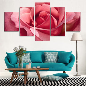 Pink Rose Petals-5 Panel-Canvas Bros