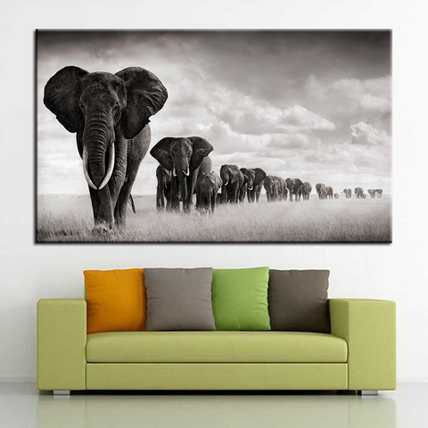 Elephant Heard-1 Panel-Canvas Bros
