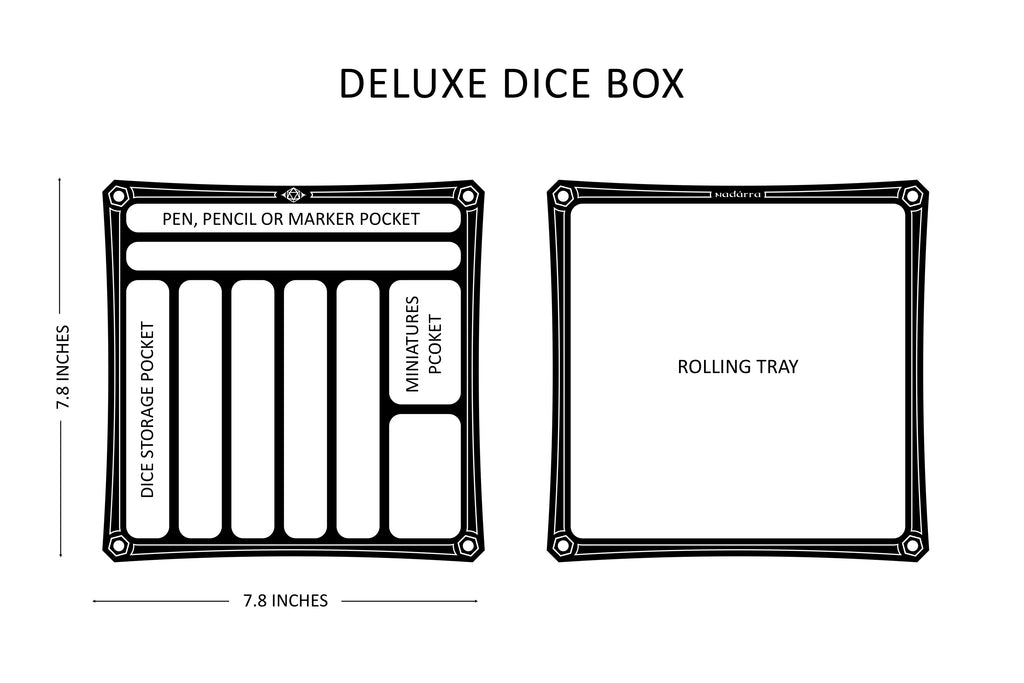 "The Deluxe 8"" Dice Box"