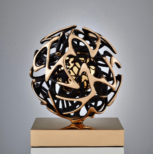 Contemporary Kinetic Bronze Sculpture