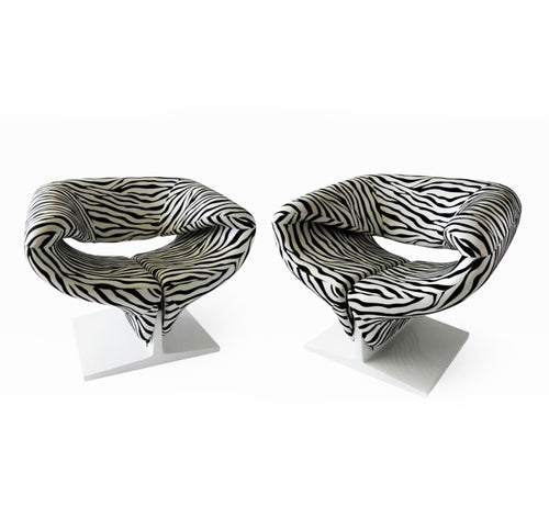 Pair of French Modern Original Pierre Paulin Ribbon Chairs for Artifort - BOCCARA ART Online Store