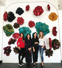 "Load image into Gallery viewer, Amazing Colourful Wall Installation ""Flower wall"" hand-made by Korean Artist Cha Yun Sook for BOCCARA ART Galleries - BOCCARA ART Online Store"