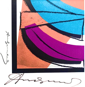 "Legendary Lithograph on Rives paper, hand signed by Andy Warhol ""U.N. Stamp"" - BOCCARA ART Online Store"